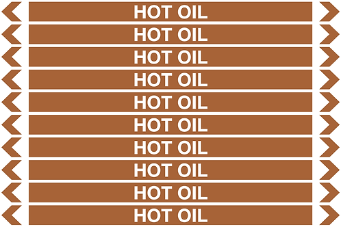 HOT OIL - Oil Pipe Marker