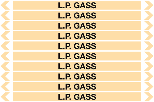 L.P. GASS - Gases Pipe Markers