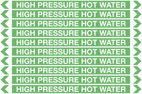 HIGH PRESSURE HOT WATER - Water Pipe Markers
