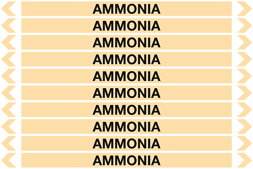 AMMONIA - Gases Pipe Markers