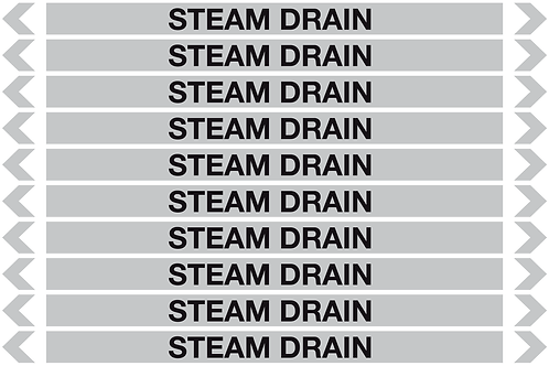 STEAM DRAIN - Steam Pipe Markers