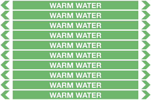 WARM WATER - Water Pipe Markers