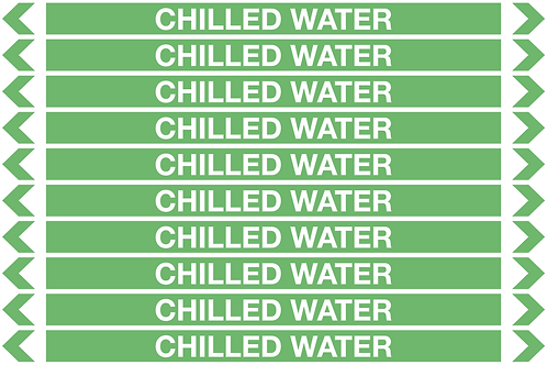 CHILLED WATER - Water Pipe Marker