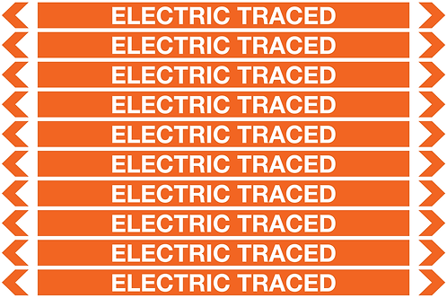 ELECTRIC TRACED - Electrical Pipe Markers