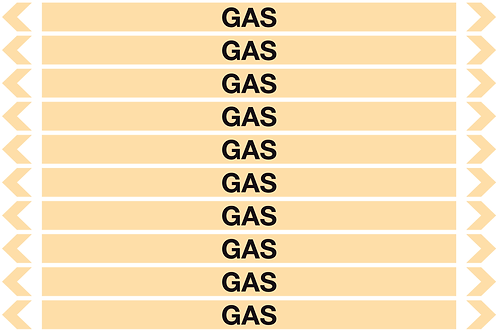 GAS - Gases Pipe Markers