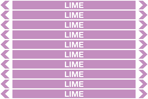 LIME - Alkalis / Acids Pipe Markers