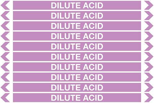 DILUTE ACID - Alkalis / Acids Pipe Markers