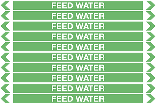FEED WATER - Water Pipe Markers