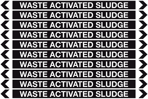 WASTE ACTIVATED SLUDGE - Misc. Pipe Markers