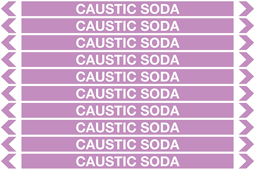 CAUSTIC SODA - Alkalis / Acids Pipe Markers