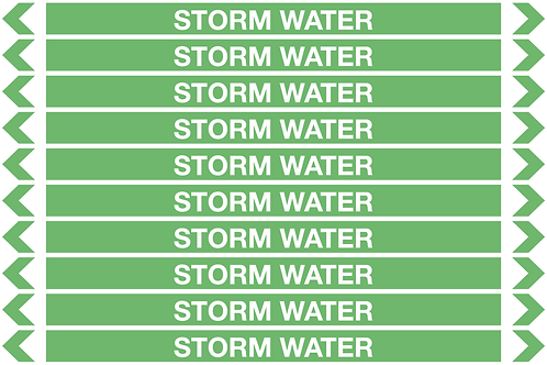 STORM WATER - Water Pipe Markers