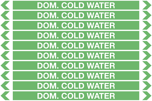 DOMESTIC COLD WATER - Water Pipe Marker