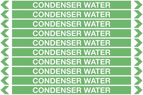 CONDENSER WATER - Water Pipe Marker