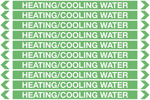 HEATING/COOLING WATER - Water Pipe Markers