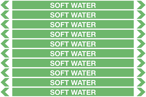 SOFT WATER - Water Pipe Markers