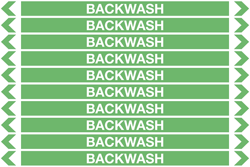 BACKWASH - Water Pipe Markers