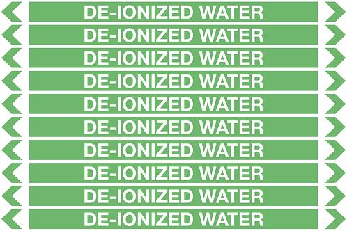 DE-IONIZED WATER - Water Pipe Marker