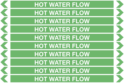 HOT WATER FLOW - Water Pipe Markers