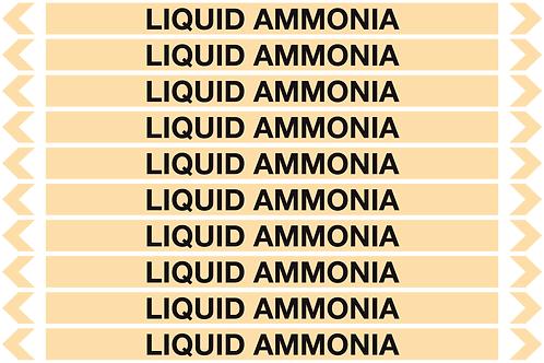 LIQUID AMMONIA - Gases Pipe Markers