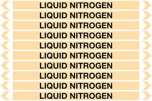 LIQUID NITROGEN - Gases Pipe Markers