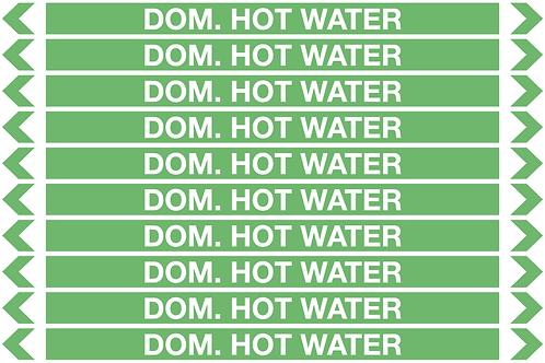 DOMESTIC HOT WATER - Water Pipe Marker