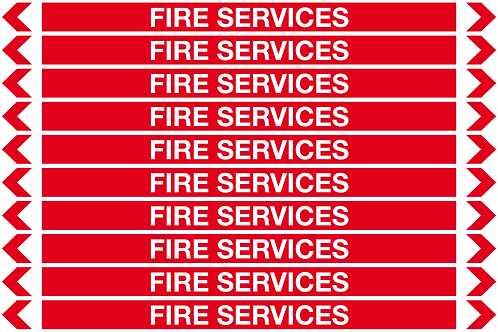 FIRE SERVICES - Fire Pipe Marker