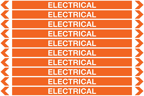 ELECTRICAL - Electrical Pipe Markers