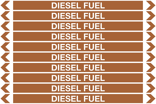 DIESEL FUEL - Oil Pipe Marker