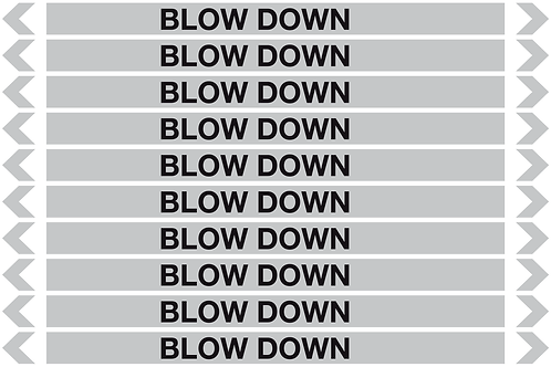 BLOW DOWN- Steam Pipe Markers