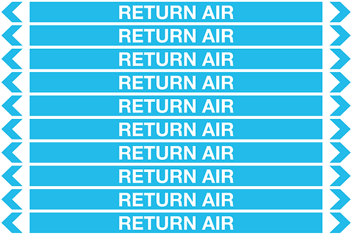 RETURN AIR - Air Pipe Markers