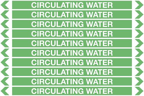 CIRCULATING WATER - Water Pipe Marker