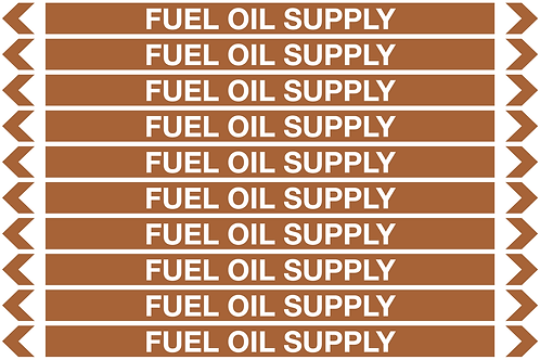 FUEL OIL SUPPLY - Oil Pipe Marker