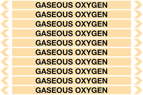GASEOUS OXYGEN - Gases Pipe Markers