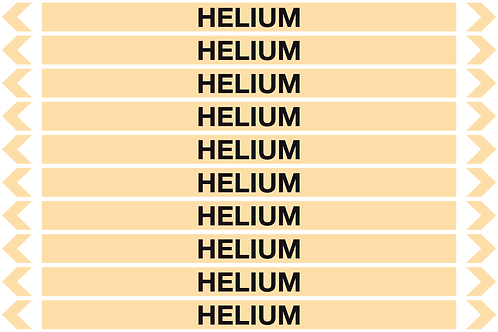 HELIUM - Gases Pipe Markers