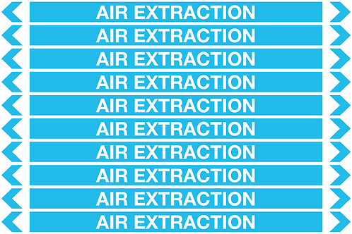 AIR EXTRACTION - Air Pipe Markers