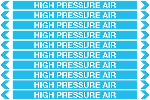 HIGH PRESSURE AIR - Air Pipe Markers