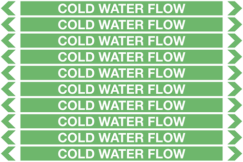 COLD WATER FLOW - Water Pipe Marker