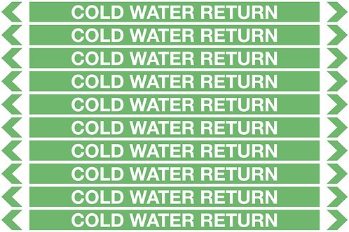 COLD WATER RETURN - Water Pipe Marker