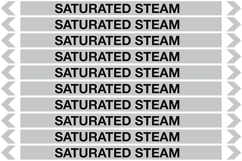 SATURATED STEAM - Steam Pipe Markers