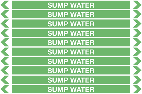 SUMP WATER - Water Pipe Markers