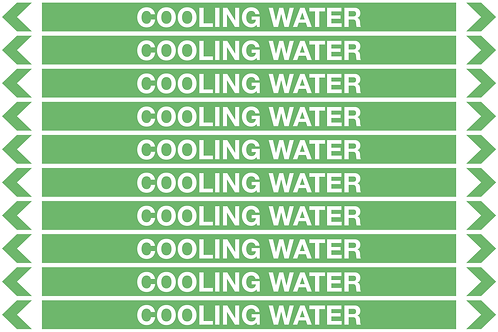 COOLING WATER - Water Pipe Marker