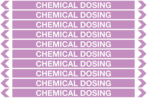 CHEMICAL DOSING - Alkalis / Acids Pipe Markers