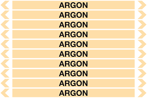 ARGON - Gases Pipe Markers