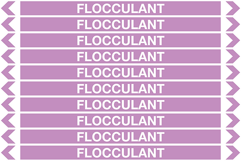 FLOCCULANT - Alkalis / Acids Pipe Markers