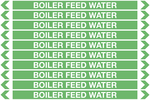 BOILER FEED WATER - Water Pipe Markers