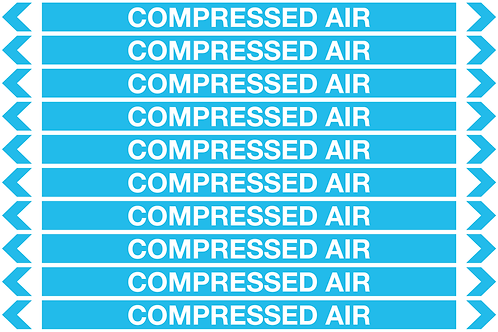 COMPRESSED AIR - Air Pipe Markers