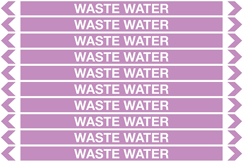 WASTE WATER - Alkalis / Acids Pipe Markers