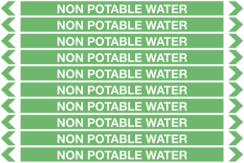 NON POTABLE WATER - Water Pipe Markers
