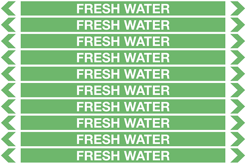 FRESH WATER - Water Pipe Markers