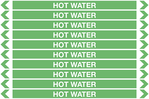 HOT WATER - Water Pipe Markers